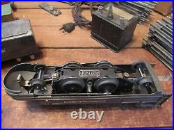 1930's Lionel Train Set 1688E Engine Tender Cars Track Transformer Original Box