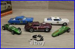 1966 Strombecker1/32 Plymouth Barracuda racing slot set Cox Ford GT Revell Vette