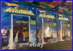 2005 Hot Wheels AcceleDrome Track Set Sealed + THREE EXTRA CARS (4 cars Total)