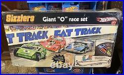 2006 Hot Wheels SIZZLERS Fat Track Giant O Race Set (unopened) + bonus