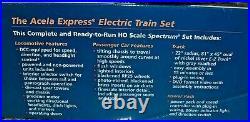 2020 ALL NEW Spectrum DCC AMTRAK ACELA SET 2 Locos, 3 Cars, Power Pack & Track