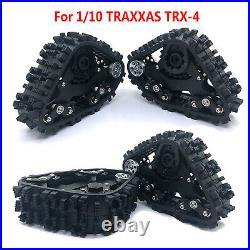 4Pcs Simulation Climbing Track Wheel Snow Tire Set For 1/10 TRAXXAS TRX-4 RC Car