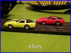 6232 Vintage Tyco Zero Gravity Cliff Hanger HO Slot Car Race Track Set Complete