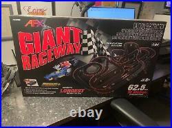 AFX Giant Raceway 62.5' HO Slot Car Track Set withTri-Power Pack Brand New MIB