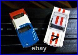 AURORA COMPLETE RTR #1300 T-JET 2 LANE HO Slot Car Race Track Set 2 Cars