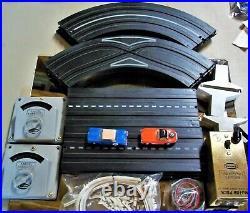 AURORA COMPLETE RTR #1503 VIBRATOR 2 LANE HO SLOT TRACK RACE SET 2 Cars T-JET