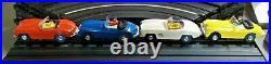 AURORA HO #1505 VIBRATOR VIBE RARER 4 LANE SLOT CAR RACE TRACK SET 4 Cars+ TJET