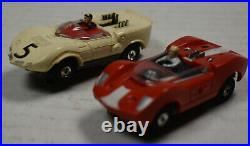 AURORA MM SEARS #1950 T-JET HO Slot Car Race Track Set 2 Cars Box Stirling Moss