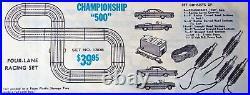 Aurora Model Motoring Nice Ho #1308 Tjet 4 Lane Slot Car Race Track Set 4 Cars