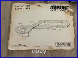 Aurora Model Motoring Slot Car 4 Track Set- 2 Cars Included