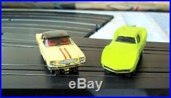 Aurora Model Motoring T-jet #1677 Special Wide Track Slot Track Race Set 2 Car +