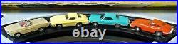Aurora Nice Complete Rtr Ho 1308 Tjet 4 Lane Slot Car Race Track Set 4 Cars+