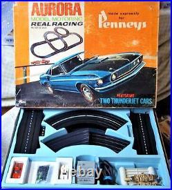 Aurora Vintage Good #1983 T-jet 2 Lane Ho Slot Car Race Track 2 Set Cars Tyco