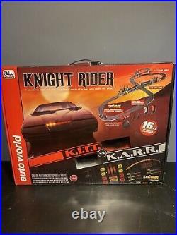 Auto World AW Knight Rider K. I. T. T. Vs K. A. R. R. 16 Ft Slot Car Set Track NEW