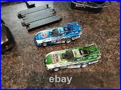 Auto World John Force Racing Dragstrip 13ft Slot Car Track Set NHRA in Box
