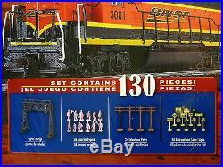 BACHMANN HO BNSF RAIL CHIEF FREIGHT SET 706 train box car ez track engine 00706