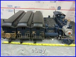 Bachmann G Scale Royal Blue Line Electric Train Set Locomotive Tinder Car Track