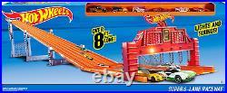 Big Hot Wheels Racetrack Big Track Matchbox Car Die Cast Giant Play Set Racing