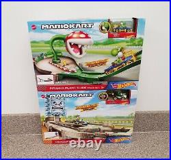 Brand New Hot Wheels Mario Kart Track Set Lot of 4 Tracks + 12 Cars Rosalina