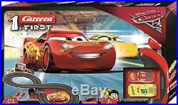 Cars 3 Slot Racing Car Race Track Set Includes Lightning McQueen & Dinoco Cruz