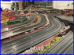 Custom Slot Car Track and Train Set