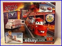 Disney Pixar Cars TOON Rescue Squad Mater Track Set RARE