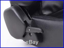 FK Automotive Bucket Sports Seat Set Pair Black Kit Race Track Car Harness