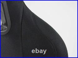 FK Automotive Full Bucket Sports Seat Set Pair Black Kit Race Track Car Harness