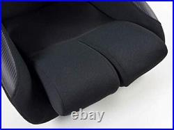 FK Automotive Full Bucket Sports Seats Set Pair Black Kit Race Track Car Harness