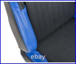 FK Bucket Sports Seats Set Black & Blue Kit Track Rally Drift Car 4x4 Camper Van