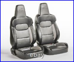 FK Bucket Sports Seats Set Pair Black G Kit Race Track Car Retro T4 T5 Defender