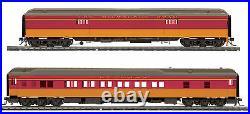 HO MTH Milwaukee Road 2 Car Heavyweight Passenger Set for 2 Rail Track 80-40011