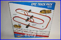 Hot Wheels Epic Track Pack Set 4 Boosters 2 Loop Jump 10 Car HANDS FREE RACING
