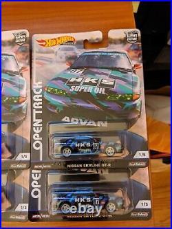 Hot Wheels HKS Skyline Car Culture Open Track Set of 8