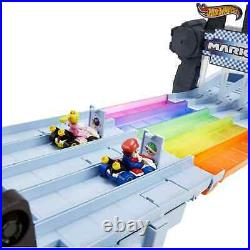 Hot Wheels Mario Kart Rainbow Road Raceway Track Set FREE SHIPPING