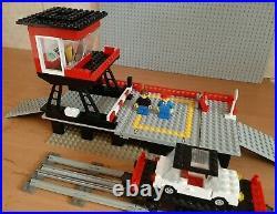 LEGO 4.5V 7839 Car Transport Depot 4.5 Volt Rail Track Gray, year 1986