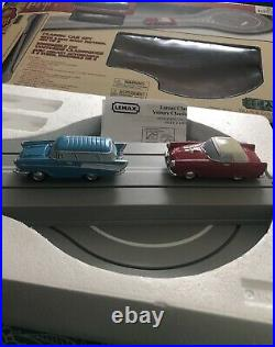 LEMAX CLASSIC CAR SET with 2 Way Track Village Collection 14671A New Opened Box