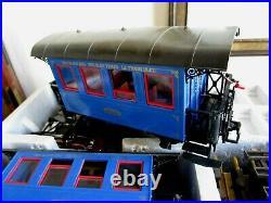 LGB 20301BZ The Blue Train Passenger Set with Figures, Vtg Loco, Cars, Track