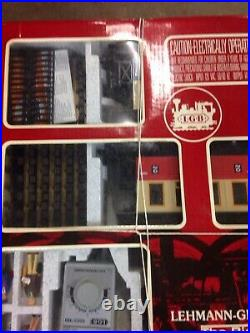 LGB G SCALE #20301 TRAIN SET NEW IN BOX + Car + 2 extra sets of track All NEW