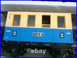 LGB The BIG Train Starter Passenger Train Set ENGINE, CARS, TRACKSwithBOX