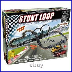 Large Slot Car Racing Track Set Stunt Loop Electric Power Road Cars Racing Play