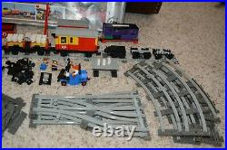 Lego 7722 train set almost complete w extra legos, cars, people, track, box
