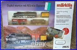 Marklin Ho Starting Set Train Track Transformer Nyc Pa-1 + 4 Cars