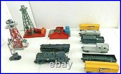 Massive Lot PostWar LIONEL O Gauge Train Set Includes Cars Track and Accessories