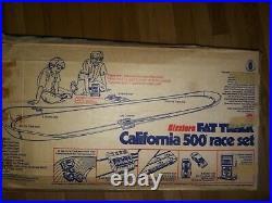 Mattel 1970 Sizzler's Fat Track California 500 Race Set w Box and Cars MANY XTRA