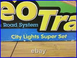 NEW! BIG Lot Fisher Price Geo Trax Train Set, Buildings, Trains, Track, Cars, Bridges