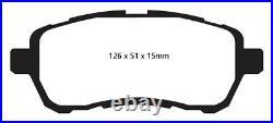 NEW EBC 272mm FRONT BRAKE DISCS AND GREENSTUFF PADS KIT OE QUALITY PD01KF1421