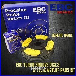 NEW EBC 348mm FRONT TURBO GROOVE GD DISCS AND YELLOWSTUFF PADS KIT PD13KF120
