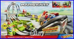 NEW Hot Wheels Mario Kart Mario Circuit Trackset With 5 Car Set
