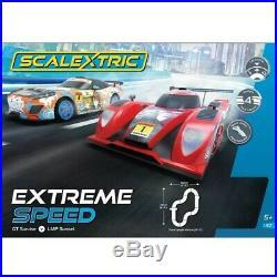 NEW Scalextric Extreme Speed Team LMP vs Team GT 1/32 Slot Car Track Set
